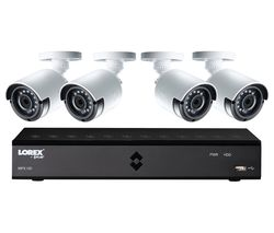 LOREX LHA21081TC4P 8-Channel Full HD 1080p Home Security System - 1 TB, 4 Cameras