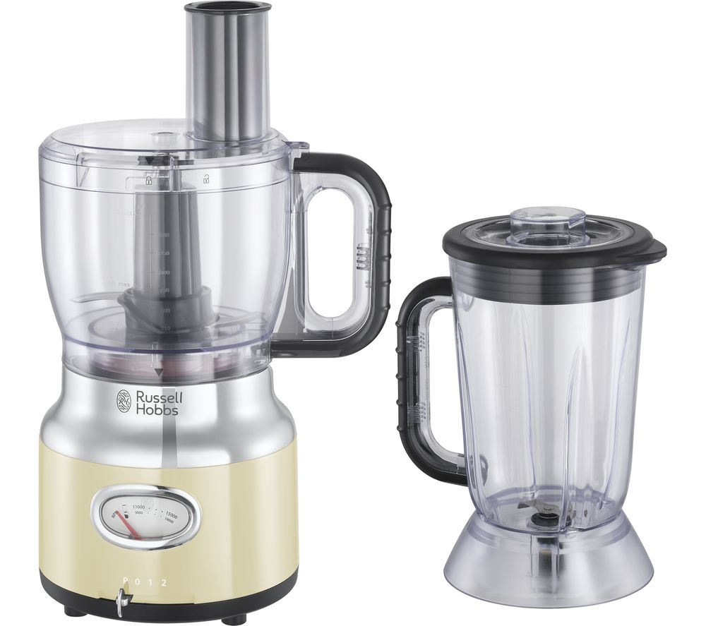 RUSSELL HOBBS Retro 25182 Food Processor - Cream