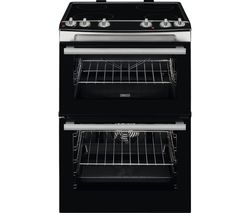 ZANUSSI ZCV66060XE 60 cm Electric Ceramic Cooker - Stainless Steel