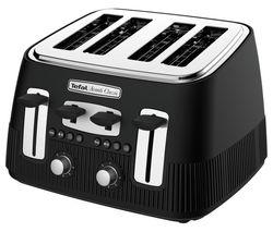 TEFAL Avanti Classic TT780N40 4-Slice Toaster - Matte Black