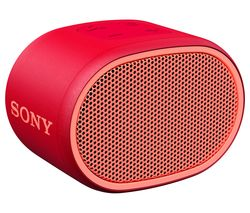 SONY SRS-XB01 Portable Bluetooth Speaker - Red