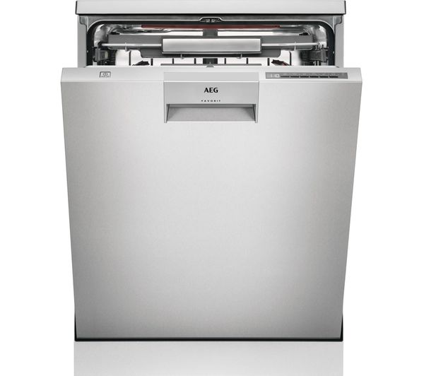 Image of AEG ComfortLift FFE63806PM Full-size Dishwasher - Stainless Steel