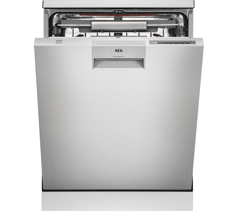 Image of AEG ComfortLift FFE63806PM Full-size Dishwasher - Stainless Steel, Stainless Steel