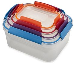 Nest Lock Rectangular Storage Container Set - Multicolour, Pack of 4