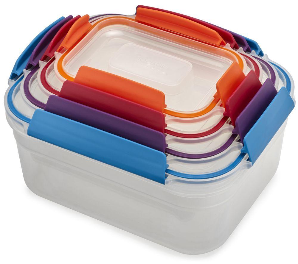 JOSEPH JOSEPH Nest Lock Rectangular Storage Container Set - Multicolour, Pack of 4
