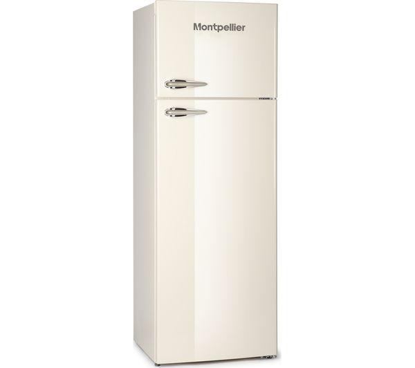Image of MONTPELLIER MAB345C Fridge Freezer - Cream
