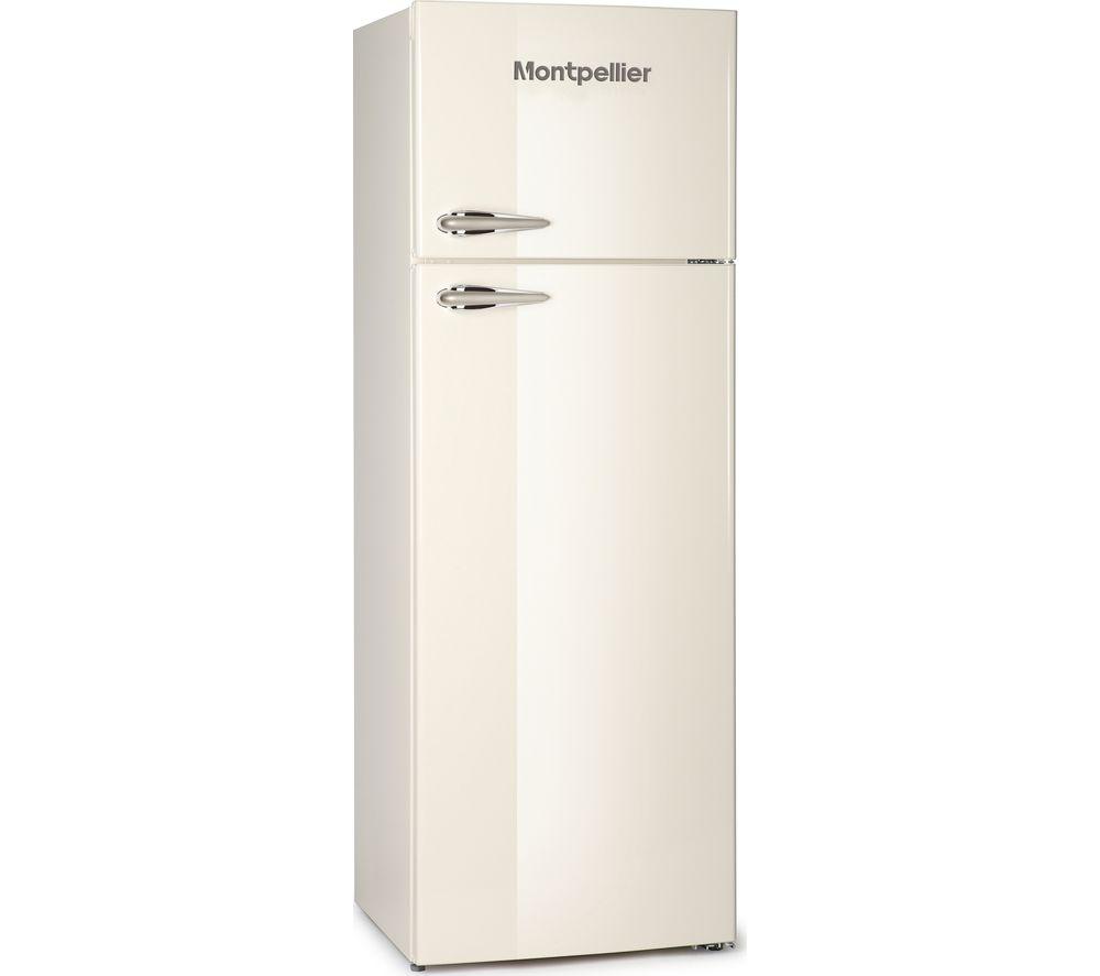 Montpellier MAB345C Retro Top Mount Freestanding Fridge Freezer Cream