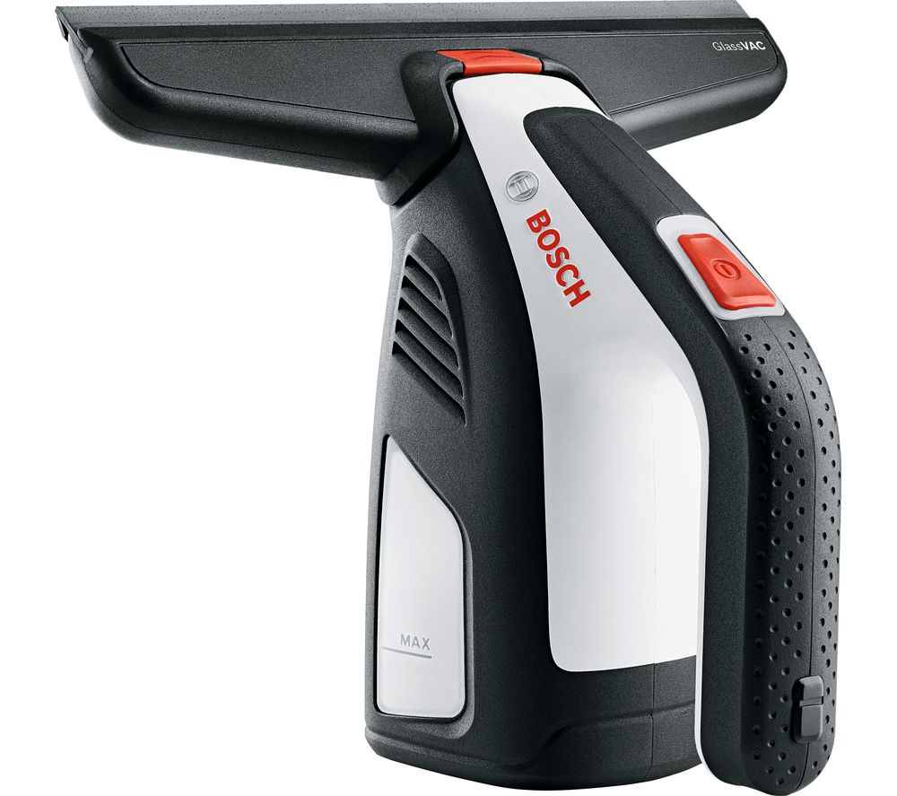 Image of BOSCH GlassVac Window Vacuum Cleaner - Black & White, Black