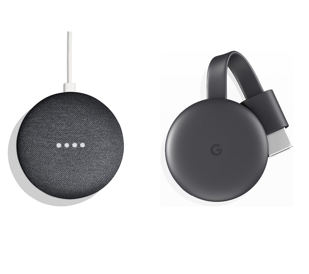 GOOGLE Home Mini & GOOGLE Chromecast Bundle - Charcoal, Charcoal