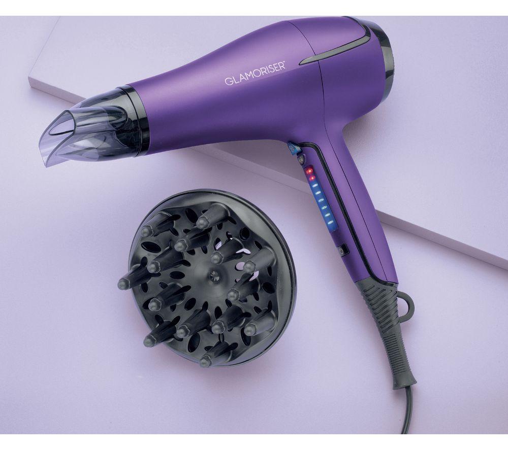Image of GLAMORISER Salon Results Touch GLA032 Hair Dryer - Purple, Purple