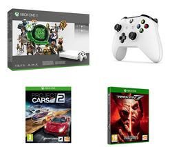 MICROSOFT Xbox One X, Project Cars 2, Tekken 7, Wireless Controller, Game Pass & Xbox LIVE Gold Bundle