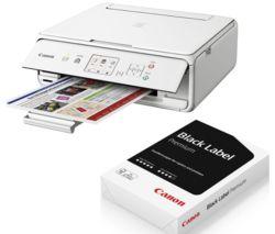 CANON PIXMA TS5051 All-in-One Wireless Inkjet Printer & A4 Premium Black Label Paper Bundle
