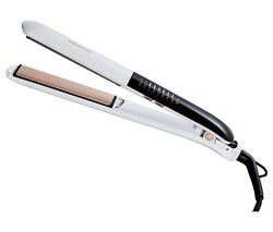 Touch Control HS7831 Hair Straightener - White & Rose Gold