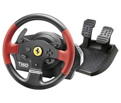 T150 Ferrari Force Feedback Wheel & Pedals - Red & Black