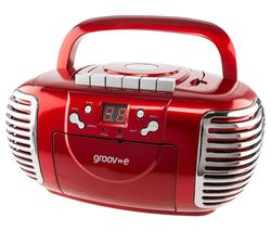 GROOV-E Retro GV-PS813-RD Boombox - Red