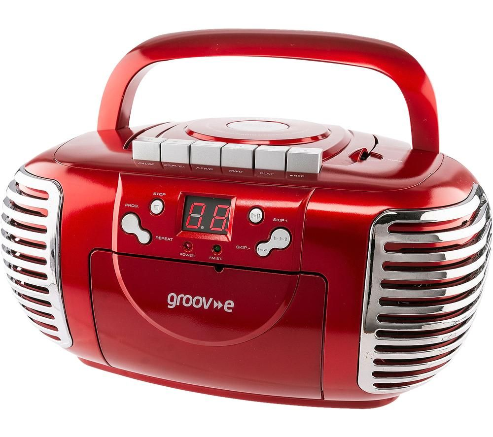 GROOV-E Retro GV-PS813-RD Boombox - Red