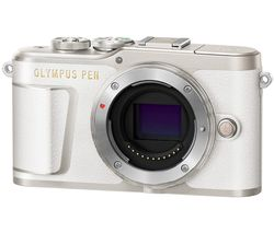PEN E-PL9 Mirrorless Camera with 32 GB SD Card - White, Body Only