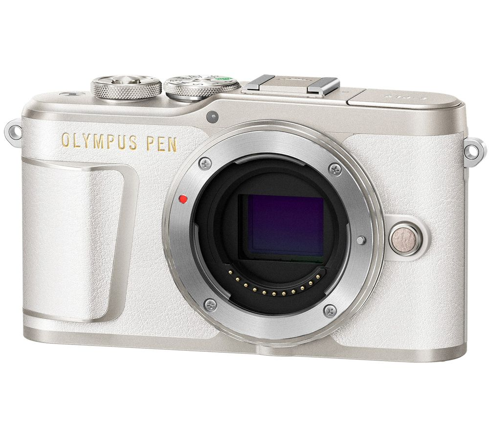 Image of OLYMPUS PEN E-PL9 Mirrorless Camera with 32 GB SD Card - White, Body Only, White