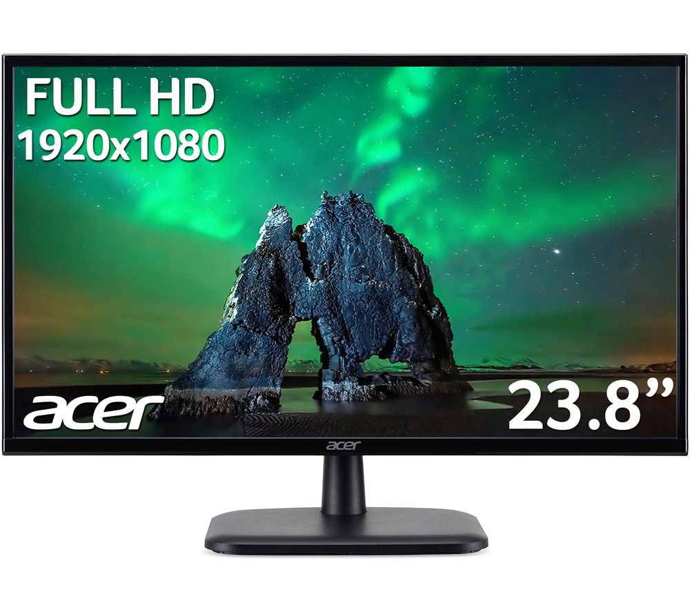 "Image of ACER EK240YAbi Full HD 23.8"" IPS LCD Monitor - Black, Black"