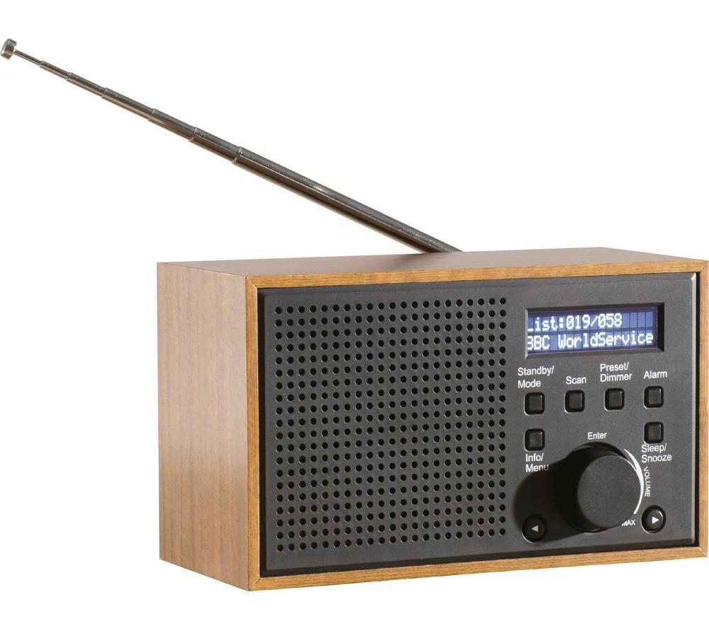 Image of DAEWOO AVS1322 Portable DABﱓ Retro Radio - Grey, Grey
