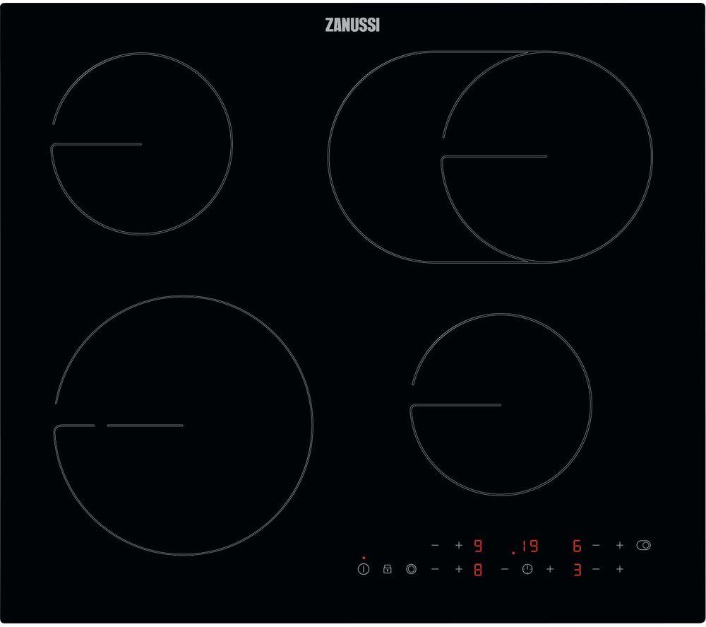 ZANUSSI OvalZone ZHRN643K Electric Ceramic Hob - Black, Black