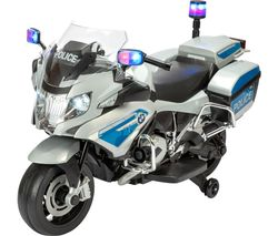 TY6106SV BMW R1200 RT-P Police Bike Electric Ride On Toy - Silver