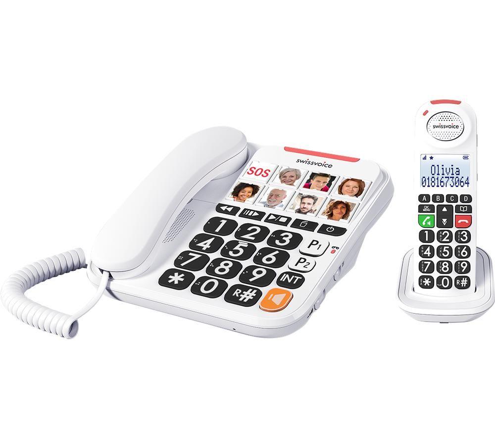 SWISSVOICE Xtra 3155 ATL1420210 Corded Phone & Cordless Extension Handset