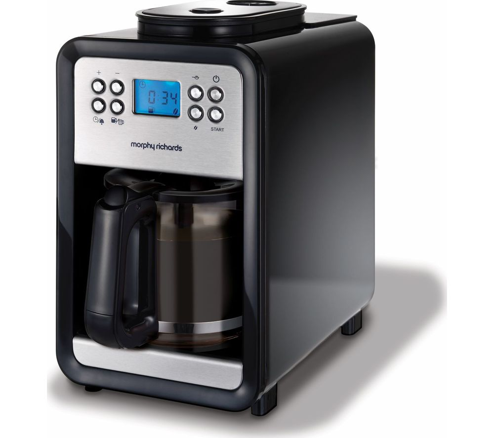 MORPHY RICHARDS 4 Cup Grind and Brew 162101 Bean to Cup Coffee Machine - Brushed Steel