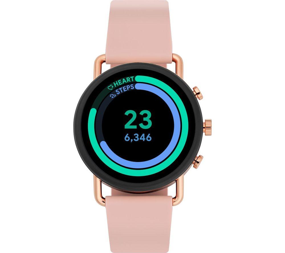 SKAGEN Falster 3 SKT5205 Smartwatch - Rose Gold & Pink, Silicone Strap, 42 mm