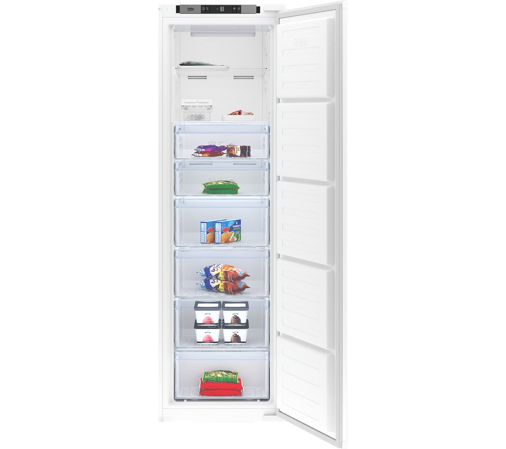 BEKO BFFD3577 Integrated Tall Freezer - White, Sliding Hinge