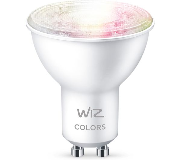 Image of WIZ CONNECTED Full Colour Smart Spotlight Bulb - GU10, Twin Pack