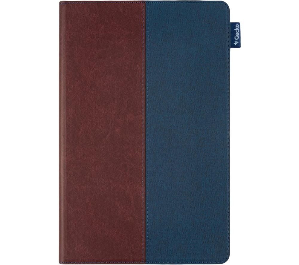 "GECKO COVERS Easy-Click 2.0 10.4"" Galaxy Tab A7 Folio Case – Blue & Brown"