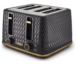 Empire Collection T20061BLK 4-slice Toaster - Black