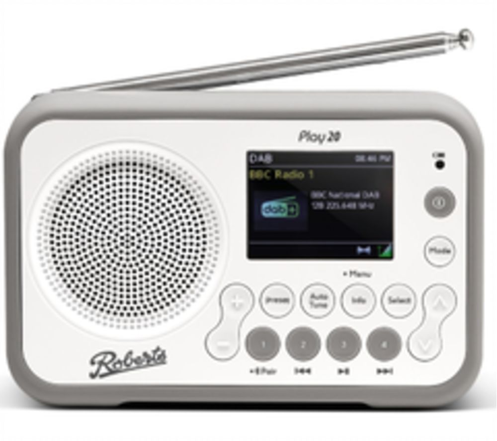 ROBERTS PLAY20W Portable DABﱓ Bluetooth Radio - White, White