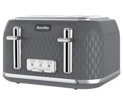 Curve VTR013 4-Slice Toaster - Grey
