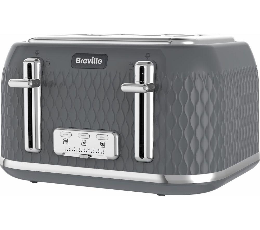 BREVILLE Curve VTR013 4-Slice Toaster - Grey