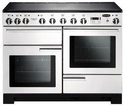 RANGEMASTER Professional Deluxe 110 Induction Range Cooker - White & Chrome