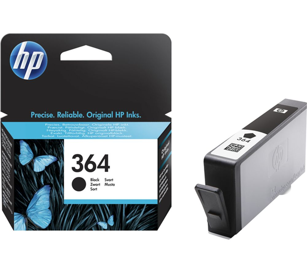 HP 364 Black Ink Cartridge + 100 x 150 mm Photo Paper - 30 Sheets