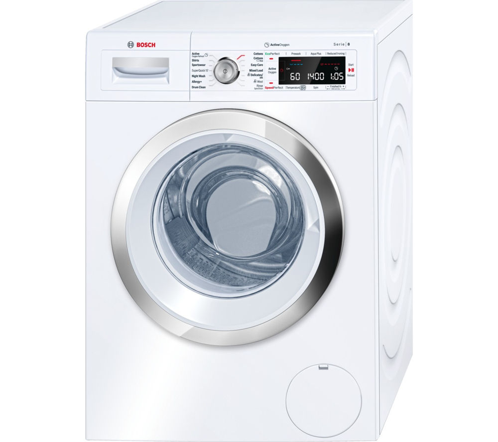 BOSCH Serie 8 ActiveOxygen WAW28750GB Washing Machine - White