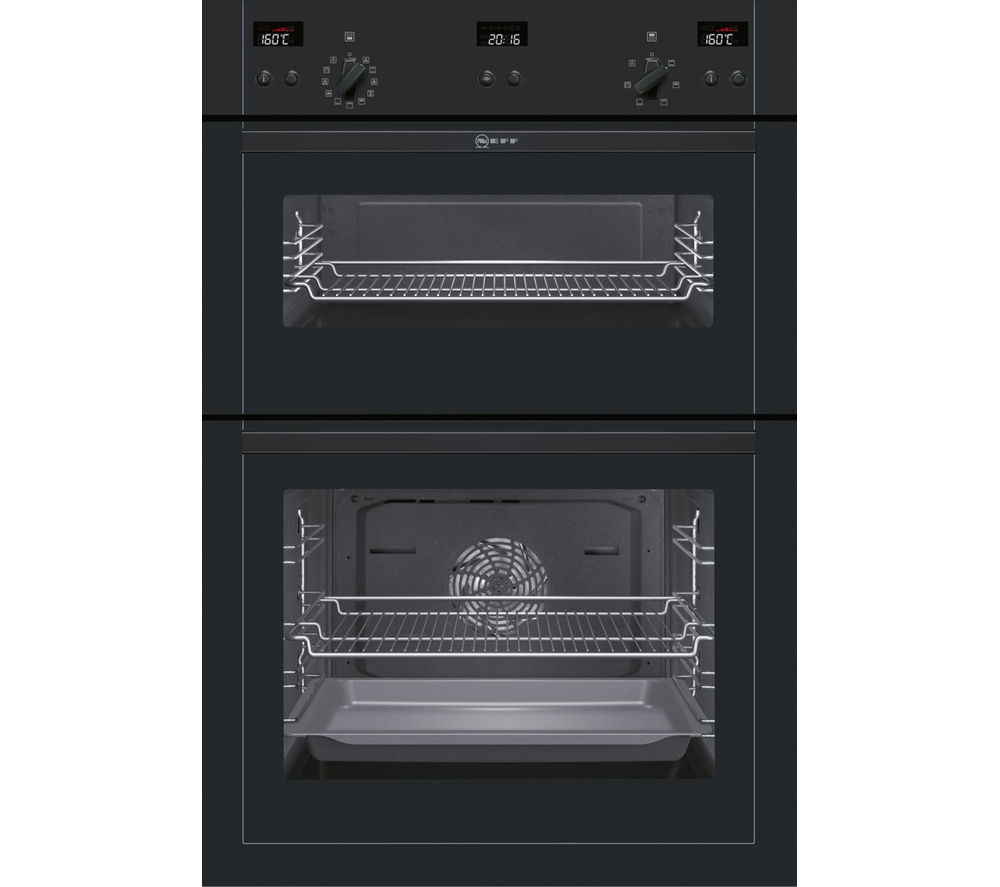 neff u15e52s5gb electric double oven black bluewater. Black Bedroom Furniture Sets. Home Design Ideas