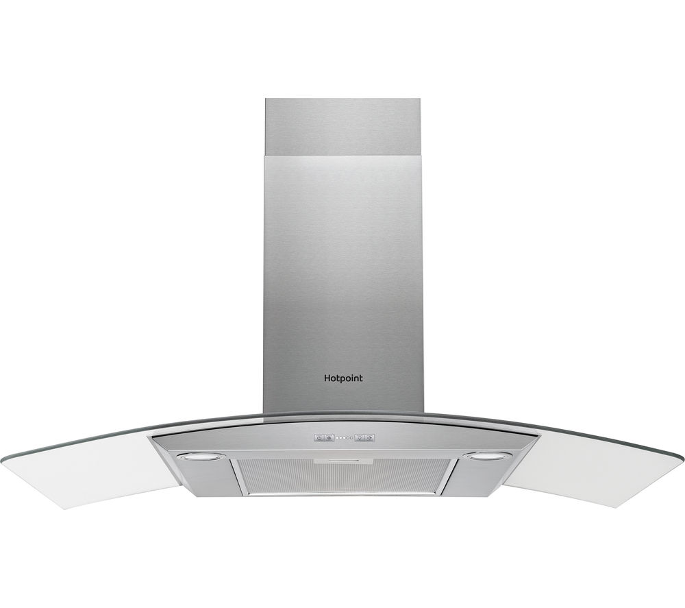HOTPOINT PHGC9.5FABX Chimney Cooker Hood - Stainless Steel