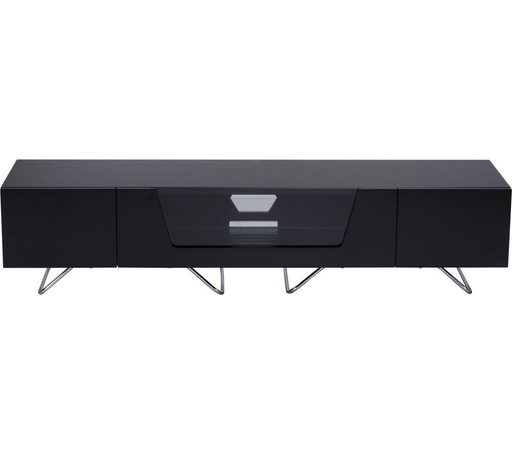 Image of ALPHASON Chromium 2 1600 TV Stand - Black, Black