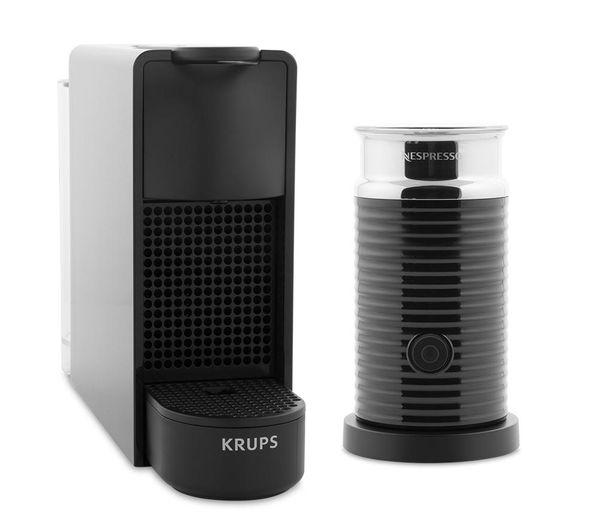 buy nespresso by krups essenza mini xn111840 coffee machine with aeroccino black free. Black Bedroom Furniture Sets. Home Design Ideas