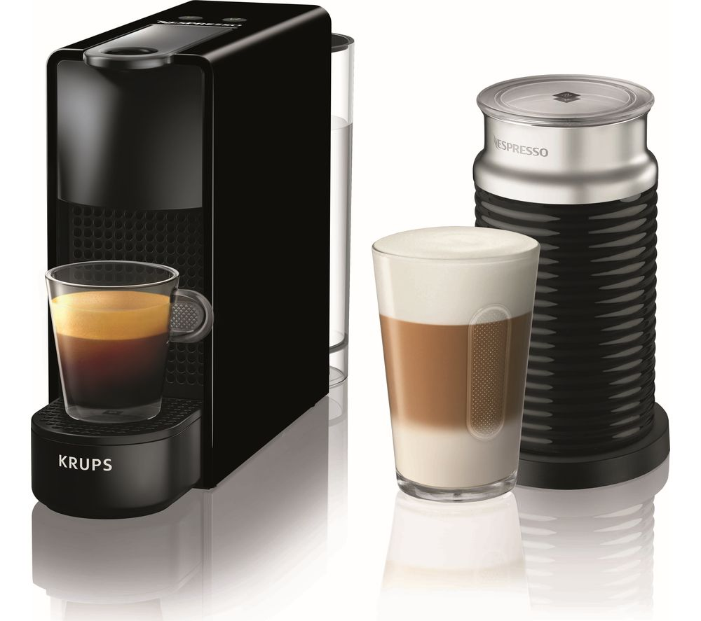 NESPRESSO by Krups Essenza Mini XN111840 Coffee Machine with Aeroccino - Black