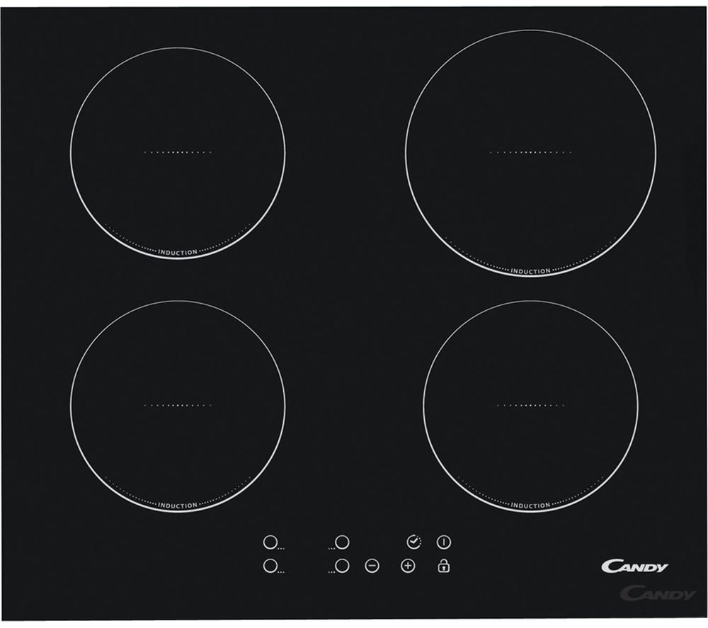 CANDY CI640CBA Electric Induction Hob - Black, Black