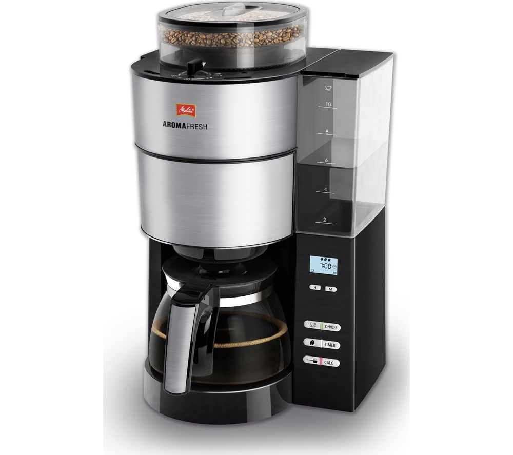 MELITTA AromaFresh Filter Coffee Machine - Black & Stainless Steel