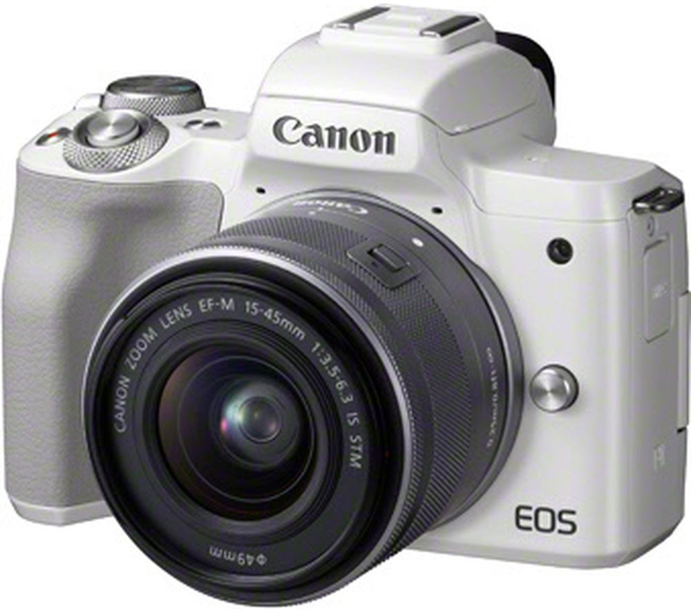 CANON EOS M50 Mirrorless Camera with EF-M 15-45 mm f/3.5-5.6 IS STM Lens - Silver