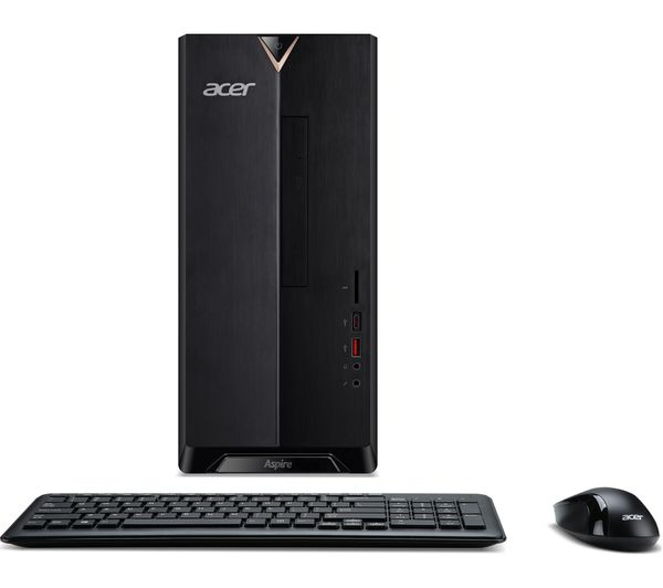 ACER TC-885.017 Intel® Core™ i7+ Desktop PC - 1 TB HDD, Black + Office 365 Home - 1 year for 5 users + LiveSafe Premium 2018 - 1 year for unlimited devices