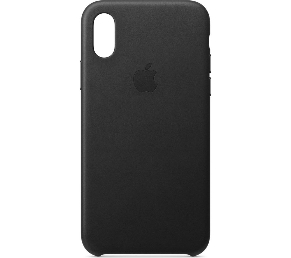 APPLE iPhone Xs Leather Case - Black, Black cheapest retail price