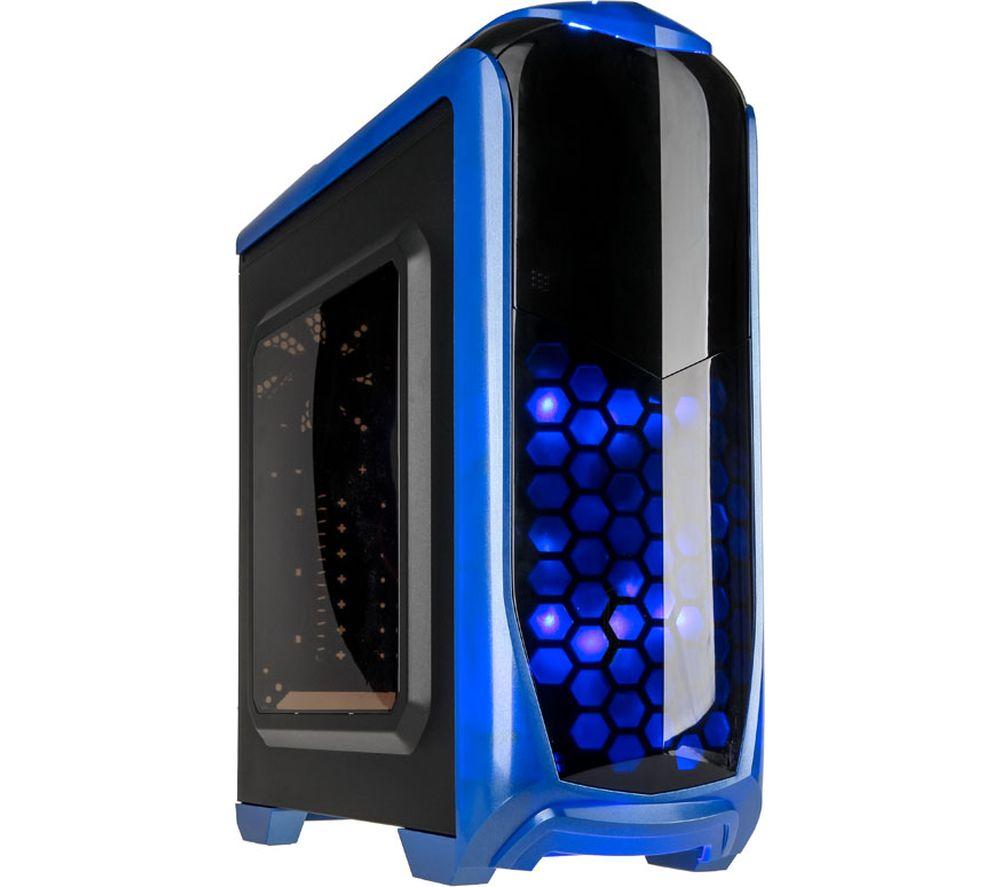Image of KOLINK Aviator ATX Mid-Tower PC Case - Blue, Blue